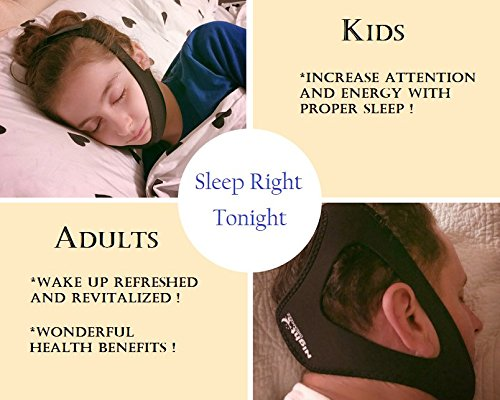 Premium Upgraded Anti Snoring Chin Strap and Nose Vents with Free Bonus Silk Eye Mask - The Ultimate Anti Snore Solution for Men, Women & Kids- Adjustable Sleep Aid Bundle by Night Dreamzzz (Image #2)