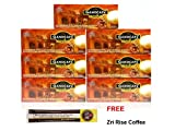 7 Boxes Gano Excel Mocha Healthy Instant Coffee ( 105 sachets ) Ganoderma Lucidum Extract + FREE Zrii Rise Coffee samples + FREE Expedited Shipping