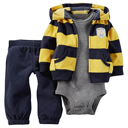 Carter's Infant Boys 3 Piece Jr Varsity Outfit Pants Creeper & Jacket 3 Months
