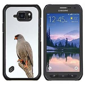 GIFT CHOICE / Teléfono Estuche protector Duro Cáscara Funda Cubierta Caso / Hard Case for Samsung Galaxy S6Active Active G890A // hawk bird white winter nature grey //