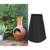 QEES Patio Chiminea Cover 190T Polyester Waterproof Large Outdoor Chimney Fire Pit Heater Cover Garden Heater Cover for Garden or Backyard JJZ18