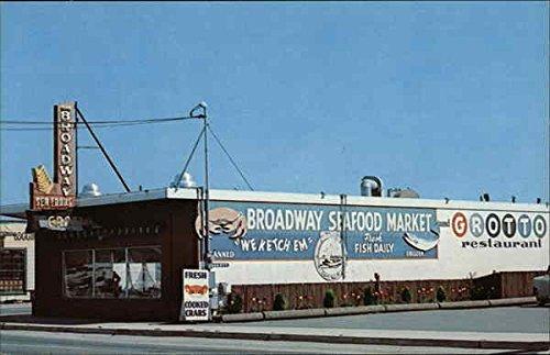 Broadway Sea Food Grotto and Market Eureka, California Original Vintage - Broadway Eureka