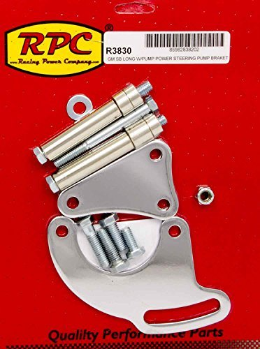 Racing Power Company R3830 Chrome Saginaw Power Steer Bracket (Saginaw Marina)