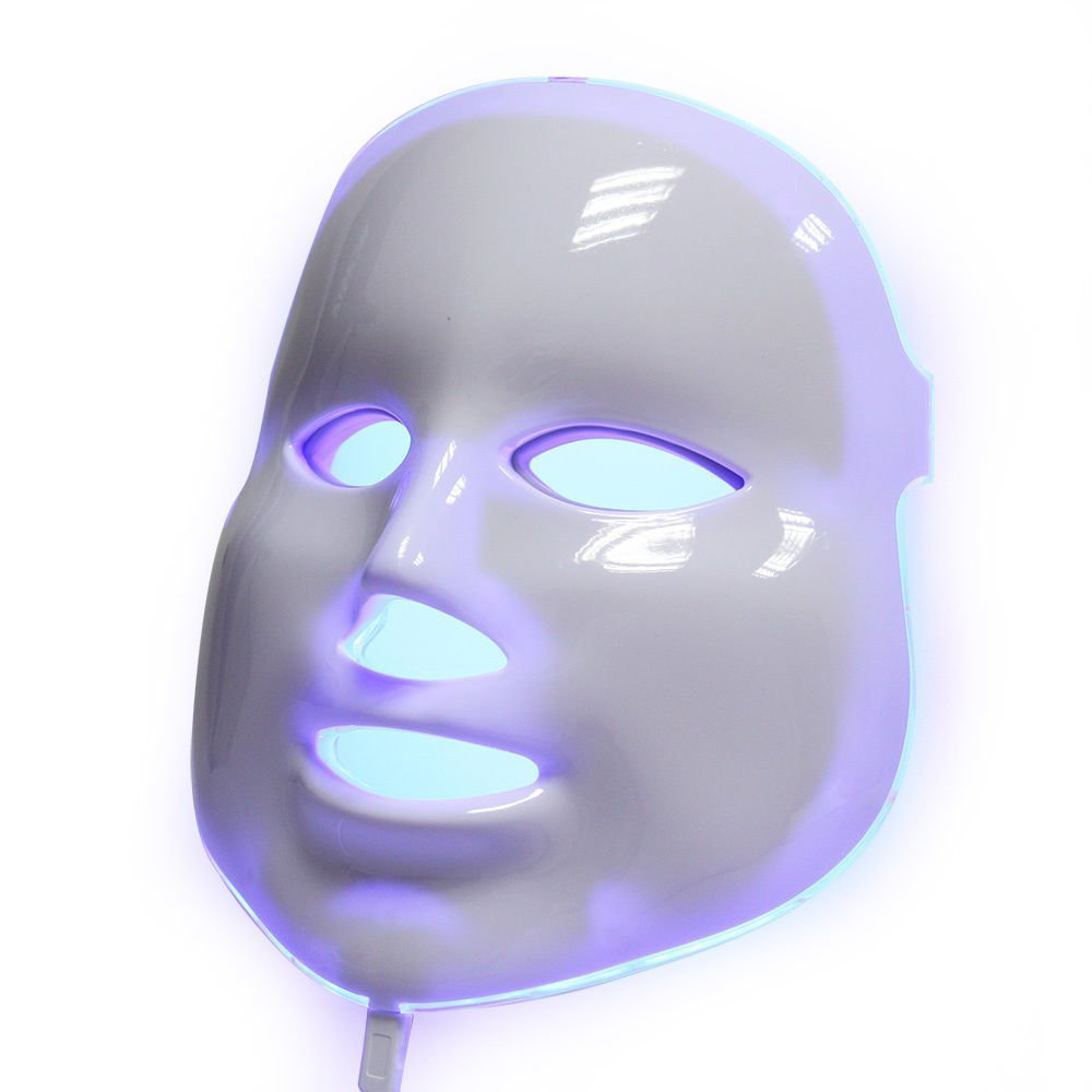 2301429913 Amazon.com : LED Light Therapy Mask 7 Colors (150 LED's Red, Blue, Green)  for Anti Aging, Wrinkles, Skin Whitening - Proven to Work! : Beauty