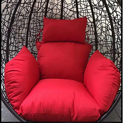 Tina's Hanging Egg Hammock Chair Cushions,Out Stand Solid Color Swing Seat Cushion Thick Nest Pillow Courtyard-red (Cushion Swingasan)