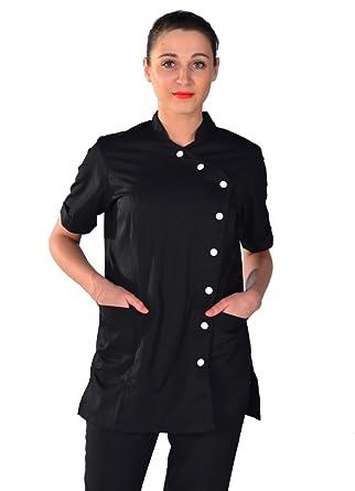 le dernier 56215 77500 Blouse esthéticienne noire Beauty Look: Amazon.fr: Vêtements ...