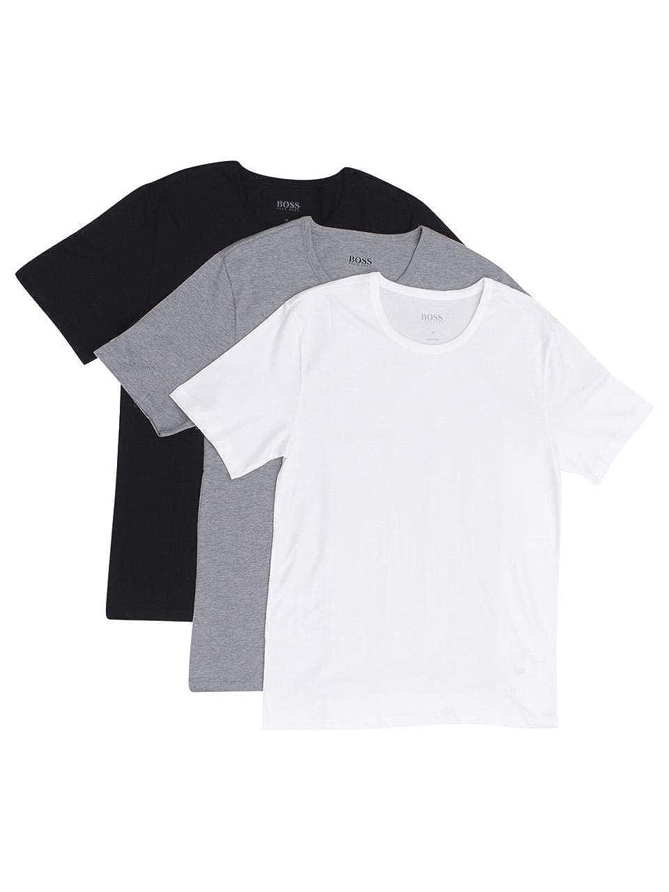 72d43094 Amazon.com: Hugo Boss Men's 3-Pack Round Neck Regular Fit Short Sleeve T- Shirts: Clothing