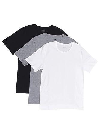 cb290ccc5 Amazon.com: Hugo Boss Men's 3-Pack Round Neck Regular Fit Short Sleeve T- Shirts: Clothing