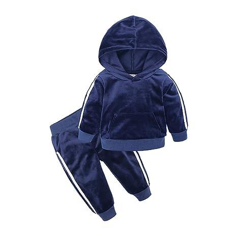 Amazon.com: Chándal con capucha de terciopelo para niños y ...