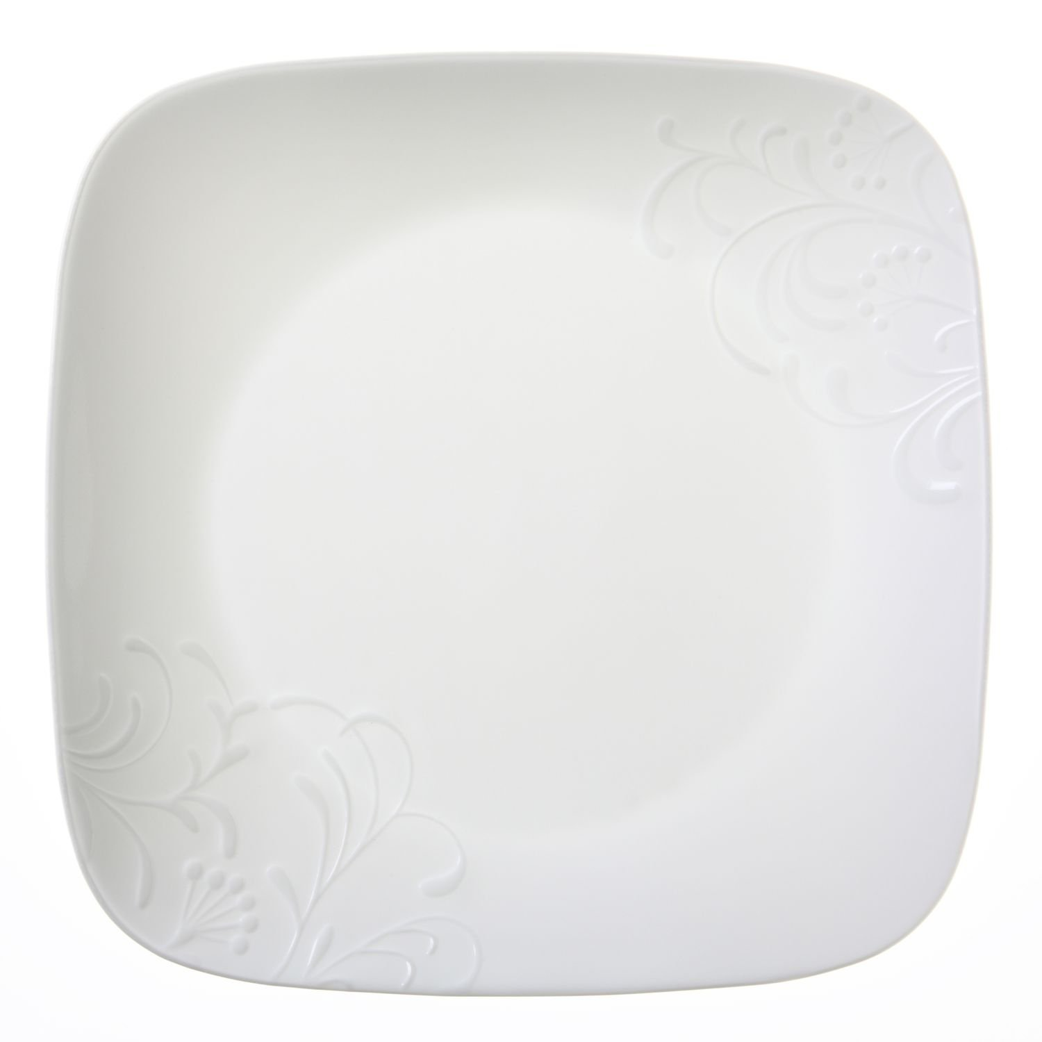 "Amazon.com | Corelle Boutique Cherish 10.25"" Square Dinner Plate (Set of  4): Dinner Plates"