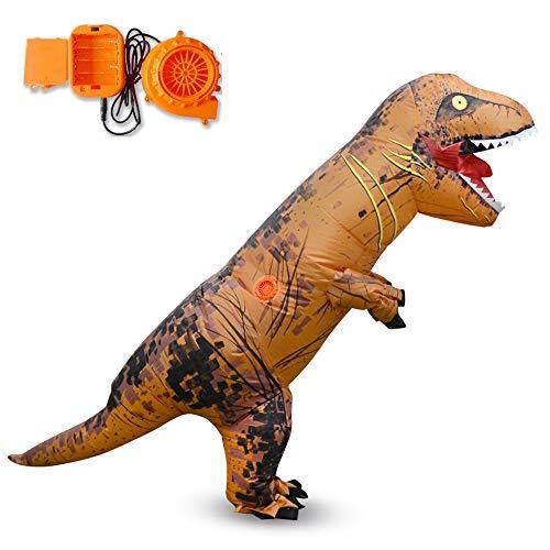 MIMI KING Tyrannosaurus Inflatable Costume T-Rex Cosplay, Halloween Dinosaur Performance Kids