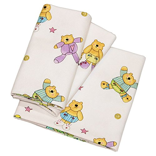 Phoenix Textiles 5 Pack Hospital Receiving Blankets Infant Newborn, Soft 100% Cotton Flannel, Fun Bear Print