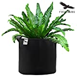 Freehawk® Planting Grow Bags, Soft-Sided Fabric Garden Plant Container Aeration Planter Pots, Smart Pot Soft-Sided Container, 3 gallon, 5 Pack, Black (3-Gal)