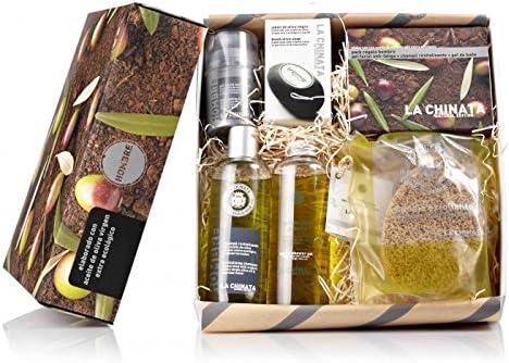 Caja de regalo con cosmética para hombre marca La Chinata: Amazon ...