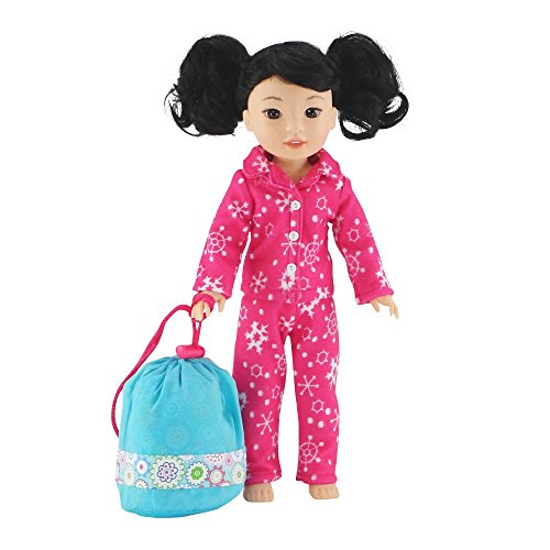 14 Inch Doll products and solutions Bedding undoable Multicolored Geometric Flower produce Sleeping purse Bed Set by using Pillow and Drawstring storage purse fit American Girl Wellie Wishers Dolls