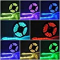 Led World 16.4ft 5M RGB 5050 SMD 300 LED Light Strip Flexible Flash Lamp Non waterproof 60led/M