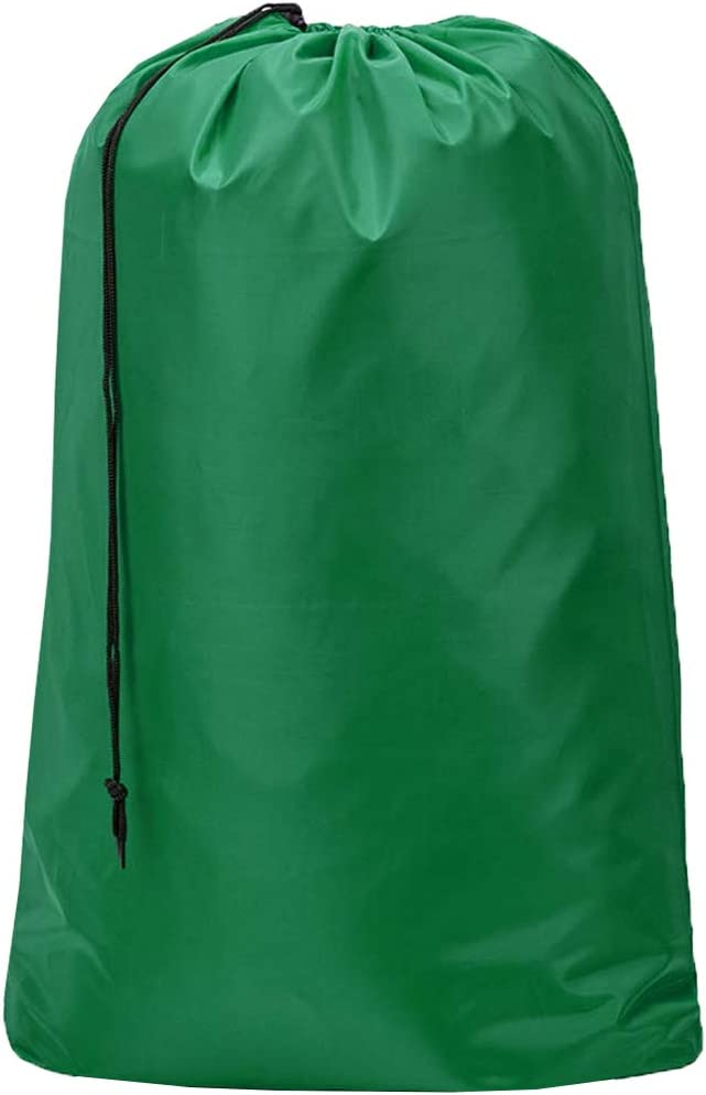 HOMEST XL Nylon Laundry Bag, Machine Washable Large Dirty Clothes Organizer, Easy Fit a Laundry Hamper or Basket, Can Carry Up to 4 Loads of Laundry, Green