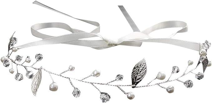 SUDADY-Donna Diadema nupcial para el pelo, accesorios de boda para ...