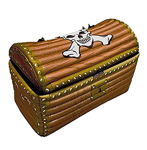 Inflatable Treasure Chest Cooler - Rimi Hanger Children Inflatable Treasure Chest 64cm Kids Drink Cooler Party Supply Accessory One Size