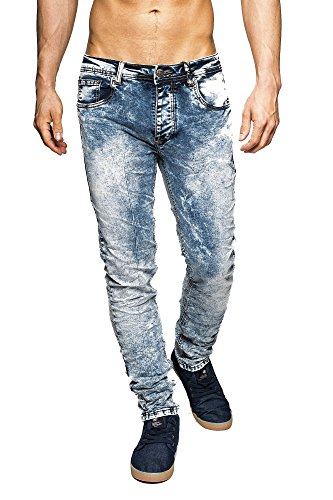 Acid washed jeans herren