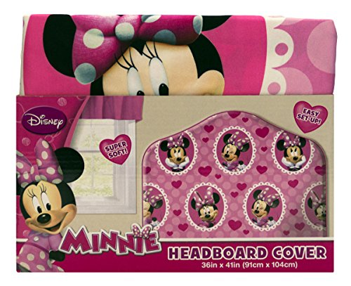 Disney Minnie Mouse Microfiber Headboard Cover (Minnie Home Decor)