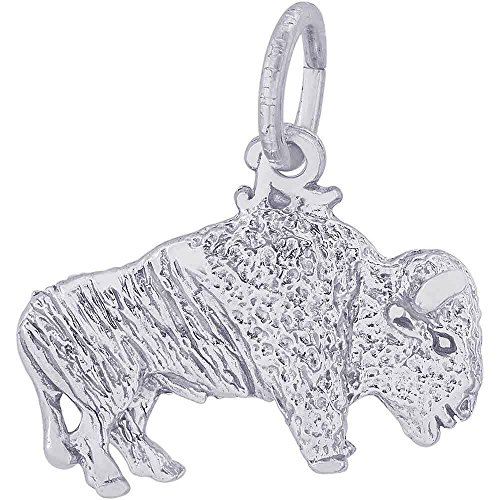 Rembrandt Charms Buffalo Charm, Sterling Silver