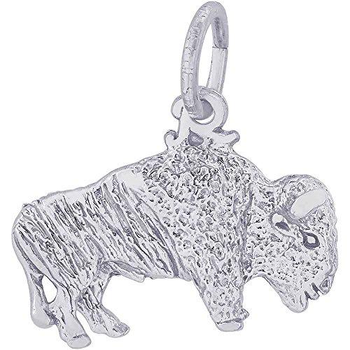 Rembrandt Charms Buffalo Charm, 14K White (14k Gold Buffalo Charm)