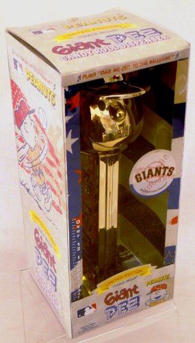 (Gold Plated Charlie Brown San Francisco Giants - Limited Edition Giant Pez Dispenser)