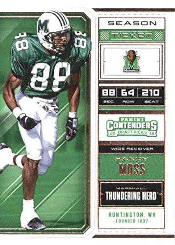 - 2018 Panini Contenders Draft Picks Season Ticket #81 Randy Moss Marshall Thundering Herd Football Card