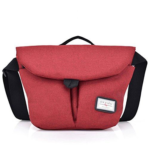 Oxford Crossbody Red Women function Messenger TENGGO Waterproof Bag Multi Red Bag Leisure En7f1fxq