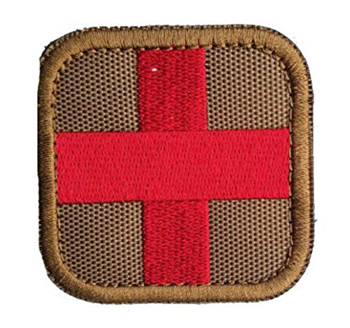 oss Tactical Patch with Backing Decorative Badge Appliques (Tan/Red) ()