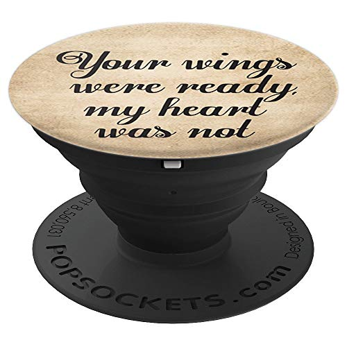 Your Wings Were Ready - Guardian Angel - In Memorium - PopSockets Grip and Stand for Phones and Tablets
