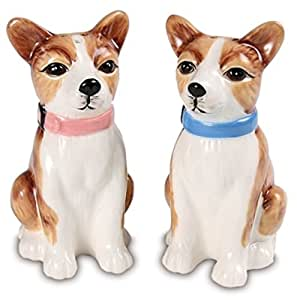 Pavilion Rescue Me Now Chihuahuas Salt and Pepper Shaker Set, Winston and Liam, 3-1/4-Inch
