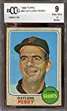 1968 topps #85 GAYLORD PERRY san francisco giants (50-50 CENTERED) BGS BCCG 9 Graded Card