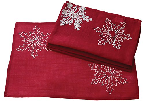 Xia Home Fashions Embroidered Snowflakes