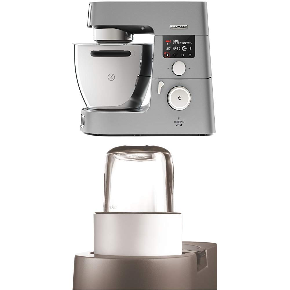 Kenwood Cooking Chef KCC9060S - Robot de Cocina por Inducción (20 - 180º), 1500W, Pantalla LCD, Bol 6,7 l + Kenwood AT320 - Accesorio ,olinillo de ...