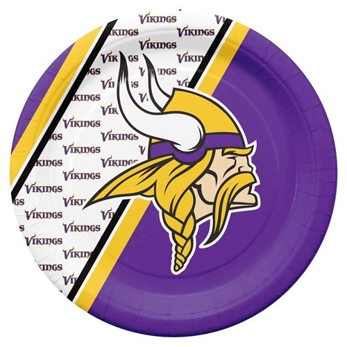 Minnesota Vikings Disposable Paper Plates (Minnesota Vikings Party Pack)