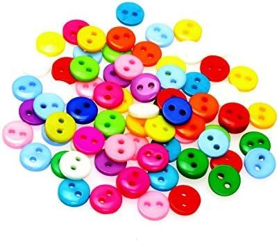 lot de 100 Petits boutons ronds multicolores