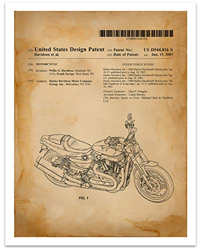 Sportster Cycle - Harley Davidson Motorcycle Sportster - 11 x 14 Unframed Patent Print - Great Gift for the Harley Lover in Your Life