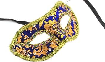 Fasching Maske Glamour Glitzer Braziliano Gesichtsmaske In Blau