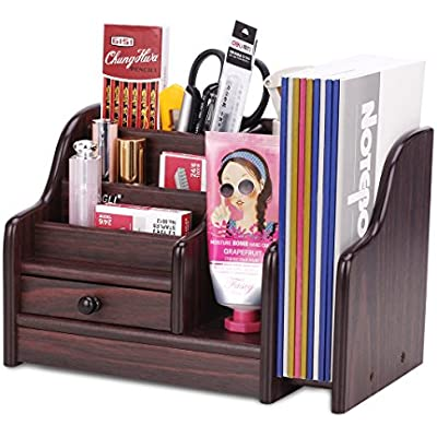 azdent-wood-desk-organizer-with-drawer