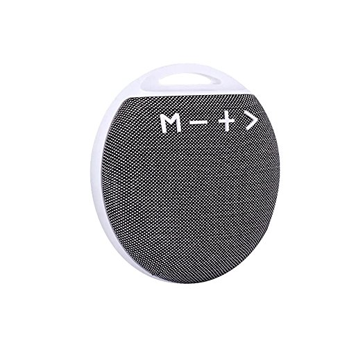 uetooth Speaker with HD Sound and Enhanced Bass,Built in Mic,Stereo Pairing,Handsfree Calling,SD/TF Card for Android Samsung PC Smartphone - Gray ()