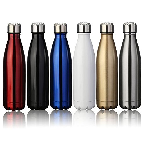 Zhaoyun 17oz Double Wall Vacuum Insulated Stainless Steel Travel Water Bottle,Keeps Your Drink Hot & Cold Perfect for Outdoor Sports Camping Hiking Cycling-White