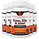 5 Pack of Joint Support for Knees & Hips w/Hyaluronic Acid Turmeric Curcumin MSM Pain 60 Capsules Each (Non-GMO)