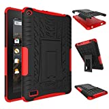 Fire 7 2015 Case, Amazon Fire 7 Case, NOKEA Hybrid Heavy Duty Armor