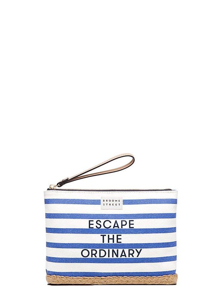 Kate Spade 'Escape The Ordinary' Medium Bella Wristlet, Blue/Cream