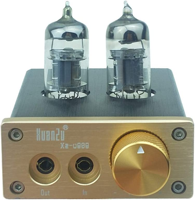 Stereo Vacuum Tube Headphone Amplifier 6J3-J Valve amp Volume Control Compact HiFi Home Audio Mini preamplfiier