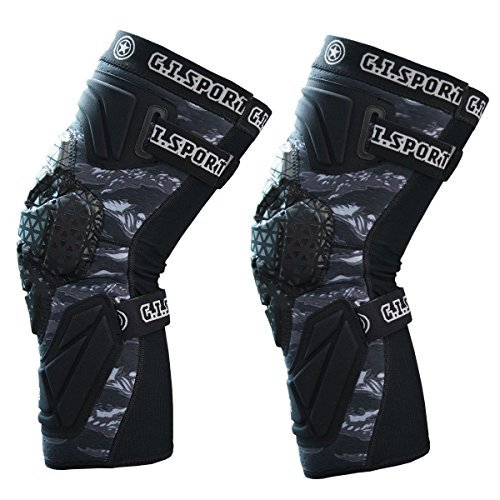 GI Sportz Race 2.0 Knee Pads Black (Medium) by GI Sportz