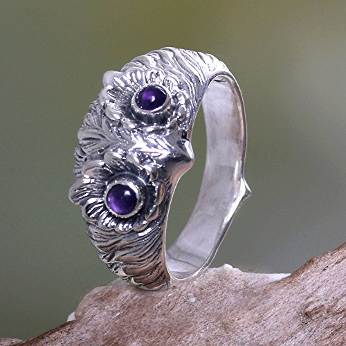Gem Stone King 1.50 Ct Oval Checkerboard Purple Amethyst 925 Sterling Silver Ring Available 5,6,7,8,9