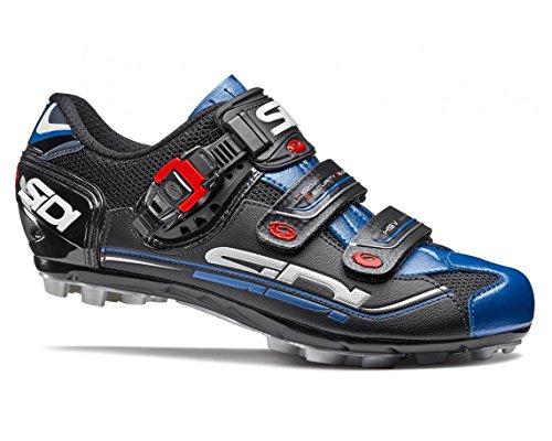 寂しい確立します子供時代SIDI(シディ) Eagle 7(イーグル) MTB Cycling Shoes - Black/Black/Blue [並行輸入品]